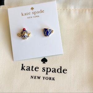 Kate Spade Enameled Teapot &Cup Earring